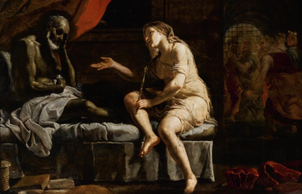Boezio consolato dalla filosofia. il dipinto di mattia preti