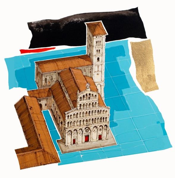 piazze d'italia e altri luoghi: chiesa di san michele di lucca