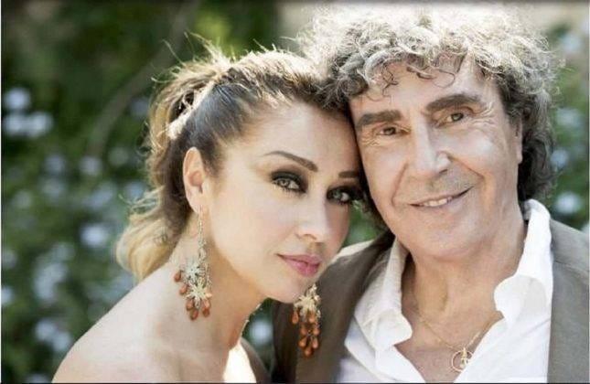 Con la moglie Tiziana