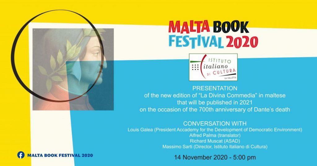 La Divina Commedia, Malta Book Festival 2020