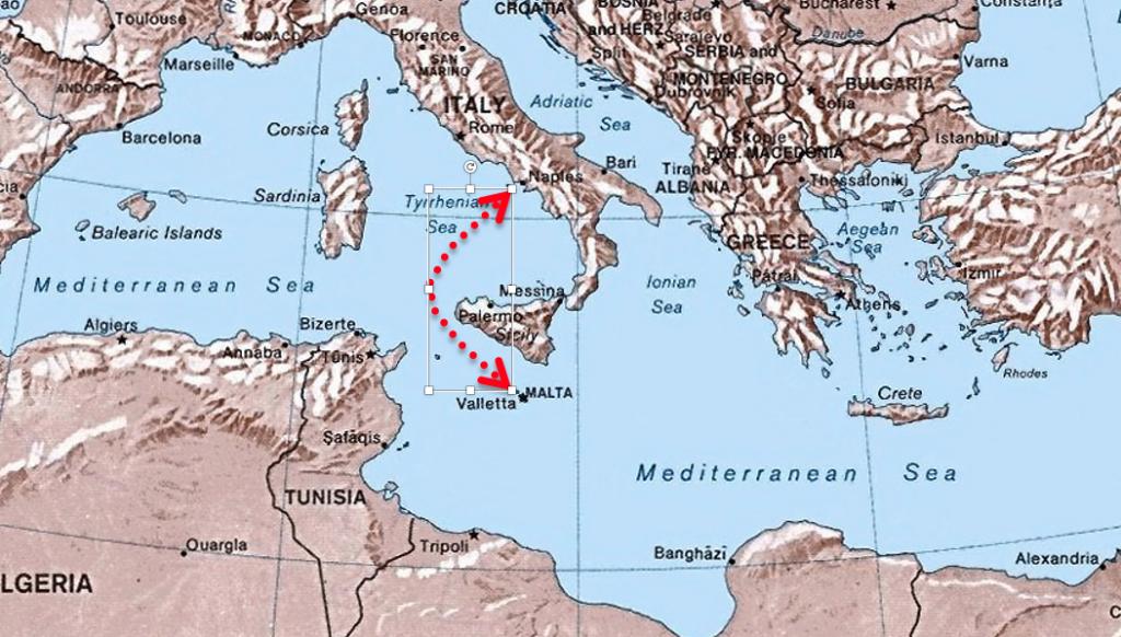 rotta Amalfi Malta