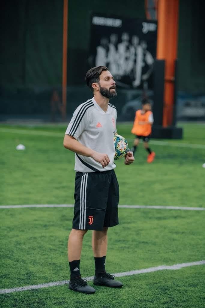 Matteo Barresi presso uno Juventus camp
