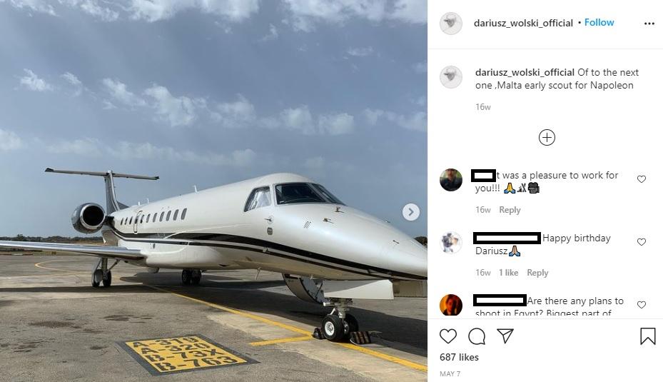 Ridley Scott girerà a Malta - Instagram di Dariusz Wolski