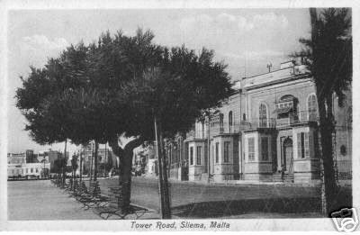 welbee supermercati Malta - Una vecchia foto di Tower Road, Sliema - fonte pinterest