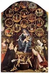 Madonna del Rosario, Lorenzop Lotto