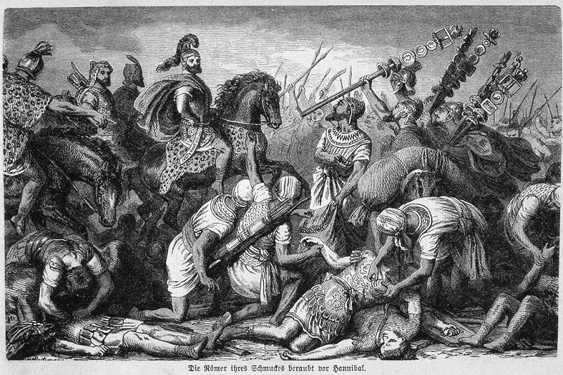 Pietra di Trentola - Incisione della Battaglia Di Canne