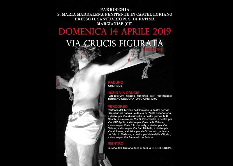 Locandina della Via Crucis Figurata Di Marcianise