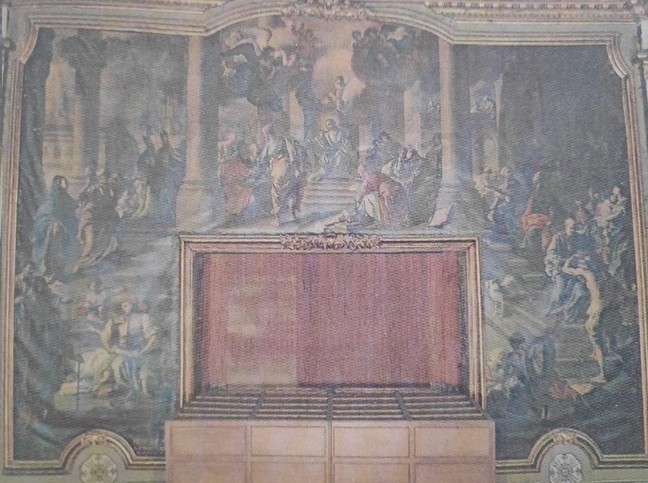 Paolo De Majo - dipinto intitolato Disputa tra i dottori della Chiesa