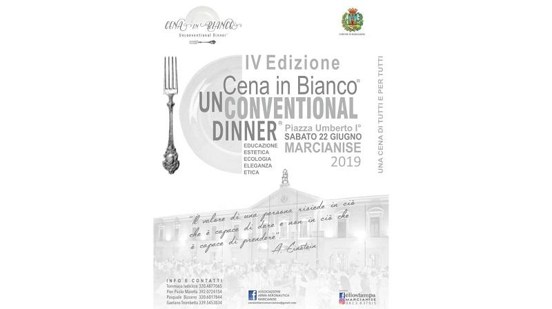 Locandina della Cena In Bianco 2019
