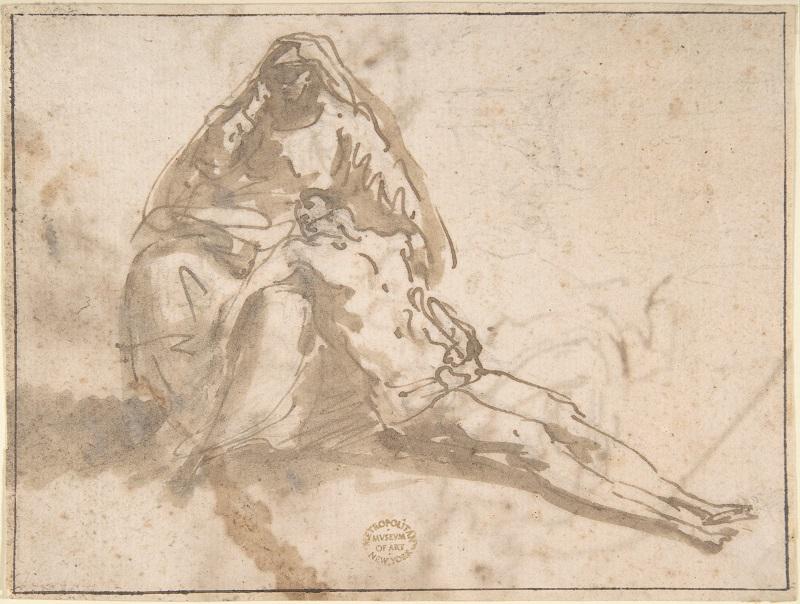 Il disegno di una Pietà di Domenico Mondo