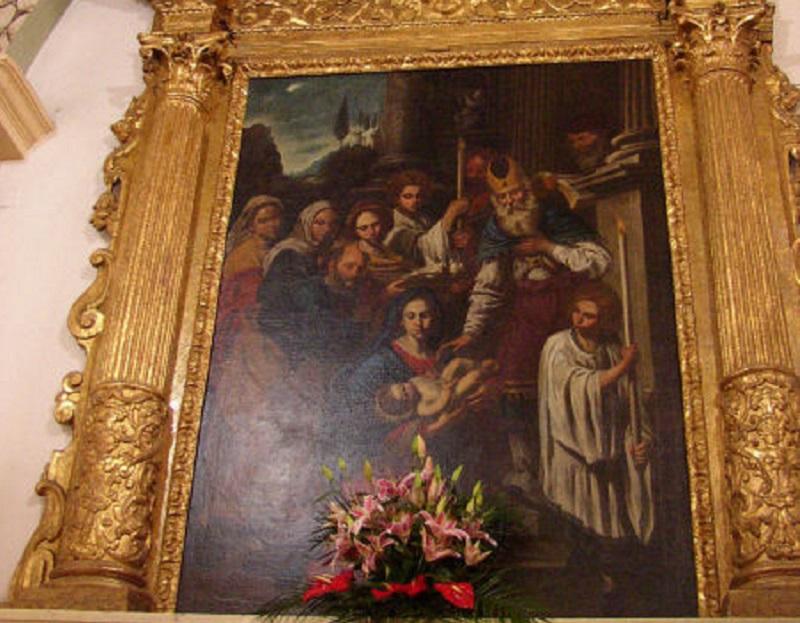 Chiesa di San Simeone profeta - dipinto di Battistello Caracciolo