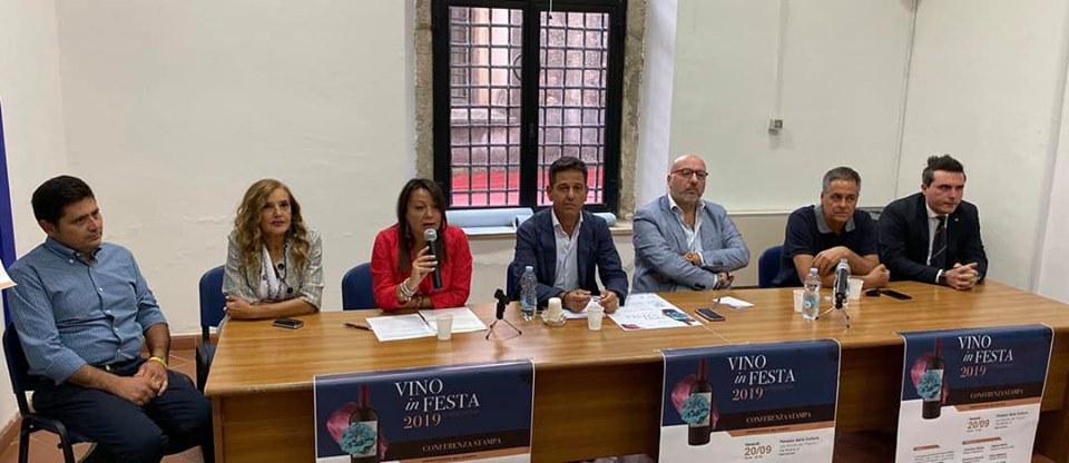 Una foto della Conferenza Stampa Di Presentazione Di Vino In Festa