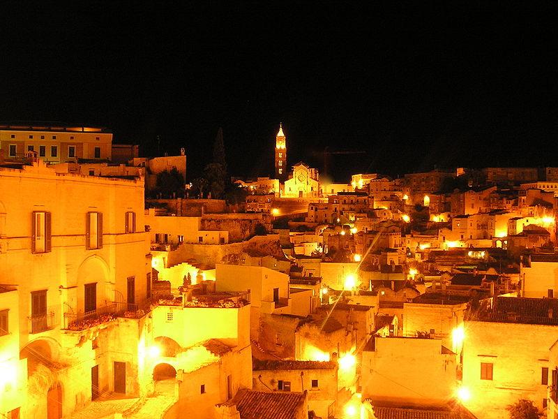 matera capitale europea della cultura- notte
