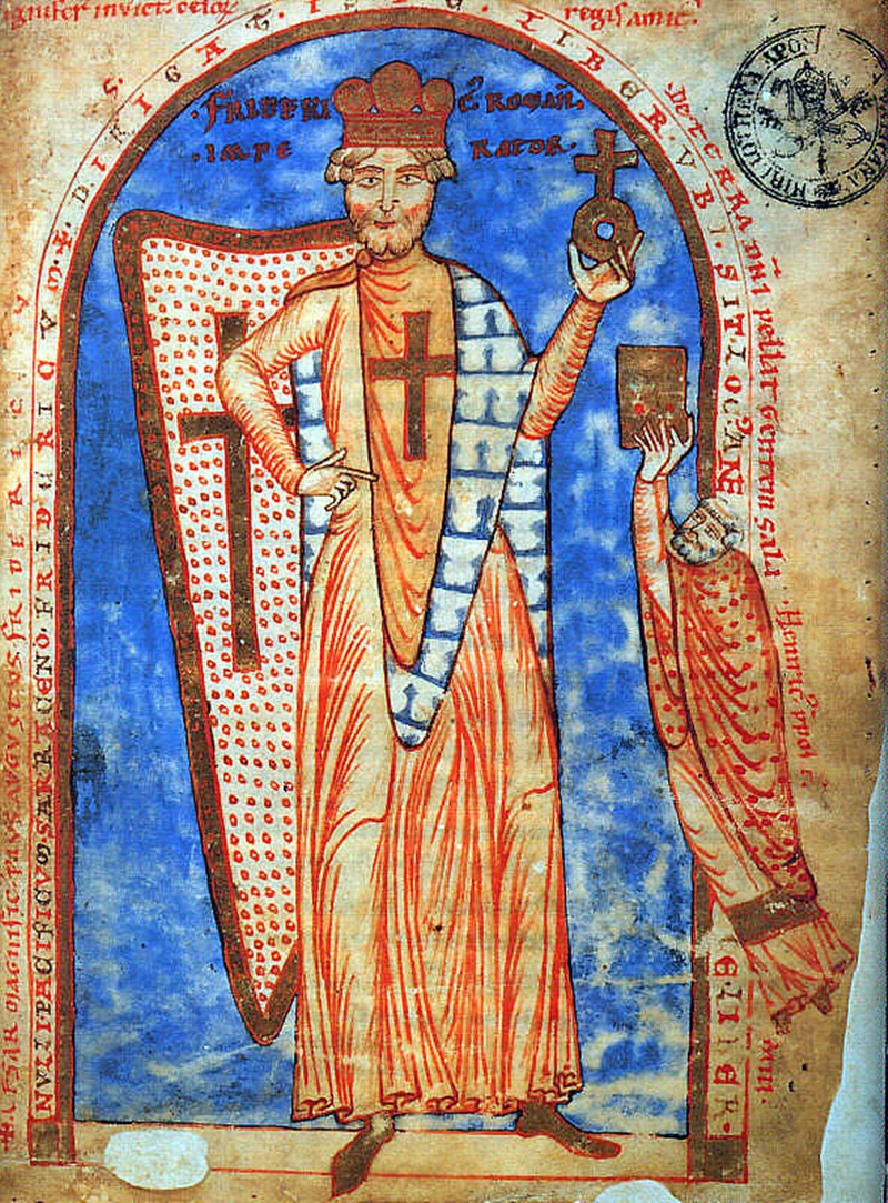 il tesoro di re barbarossa- affresco medievale con colori vivaci