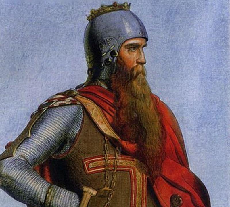 il tesoro di re barbarossa- dipinto raffigurante il Barbarossa