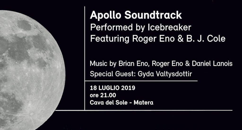 Apollo Soundtrack locandina dell'evento del 18 luglio