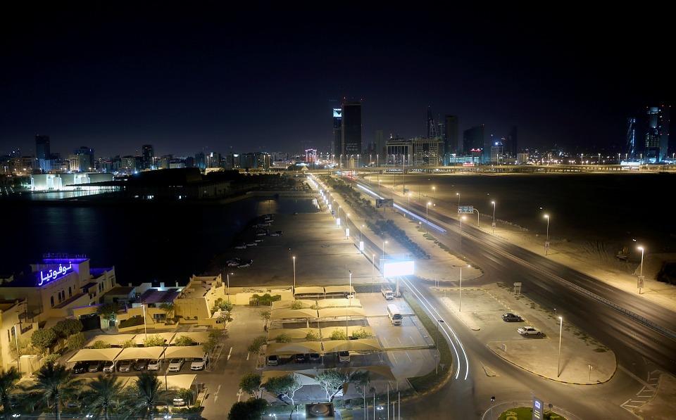 veduta del regno del Bahrein nella penisola arabica