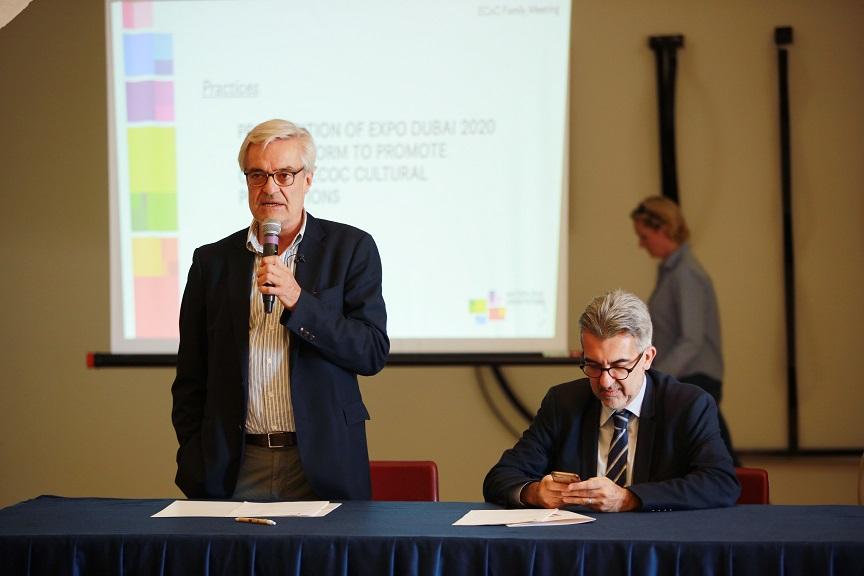l'accordo firmato da Matera e dall'Italia per dubai 2020 col presidente Verri e col commissario Glisenti