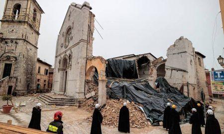 italia fragile - chiesa distrutta dal terremoto