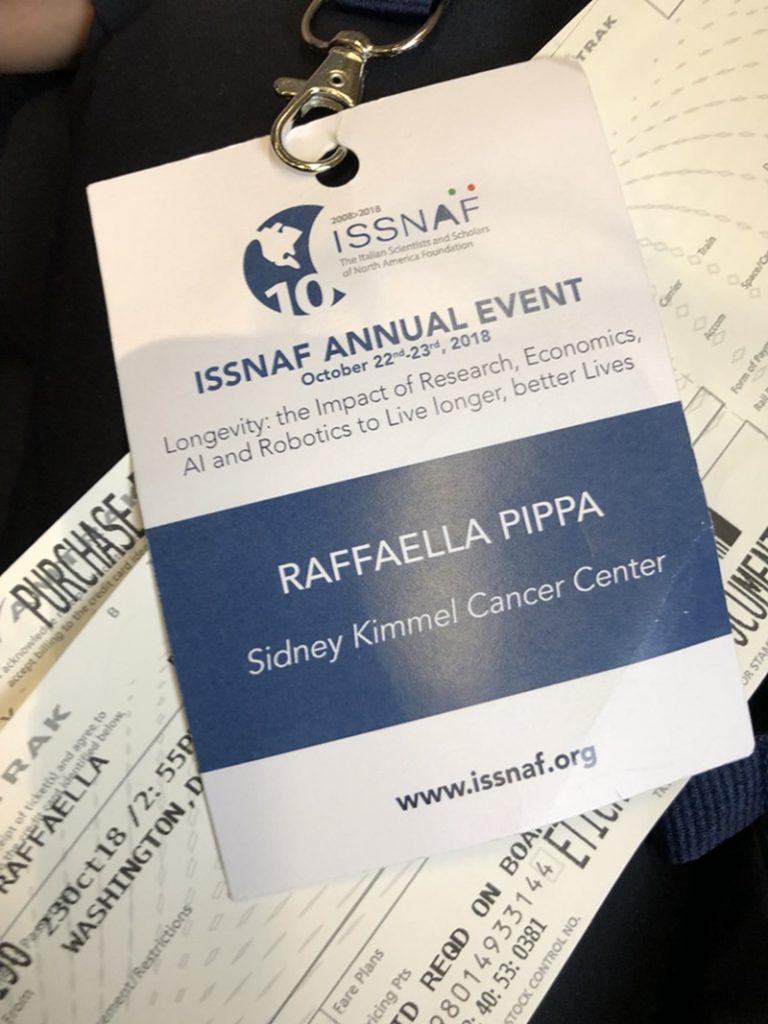 Raffaella Pippa - Pass per l'evento annuale isnaff dedicato ai migliori ricercatori