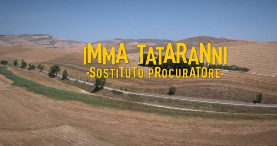 il logo della fiction con la scritta Imma Tataranni sostituto procuratore