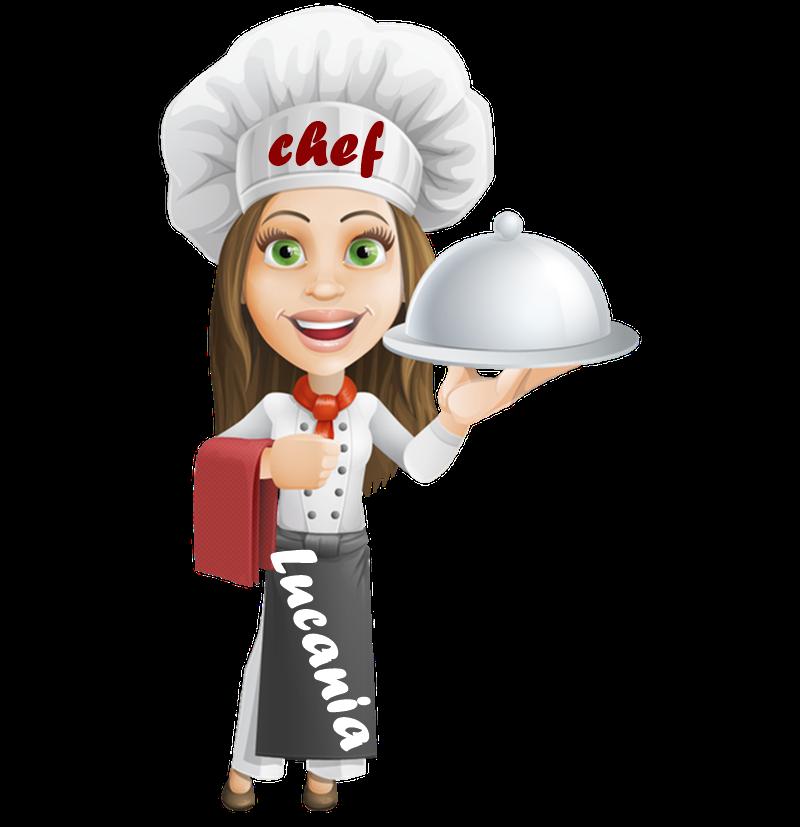 Donna chef Che porta in tavola una pietanza