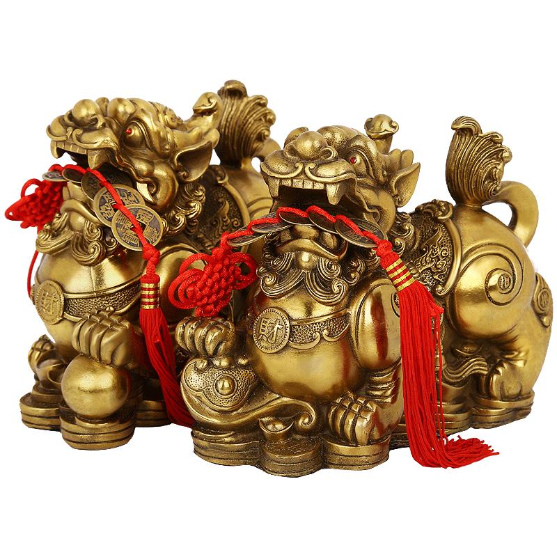 Draghi portafortuna realizzati in bronzo