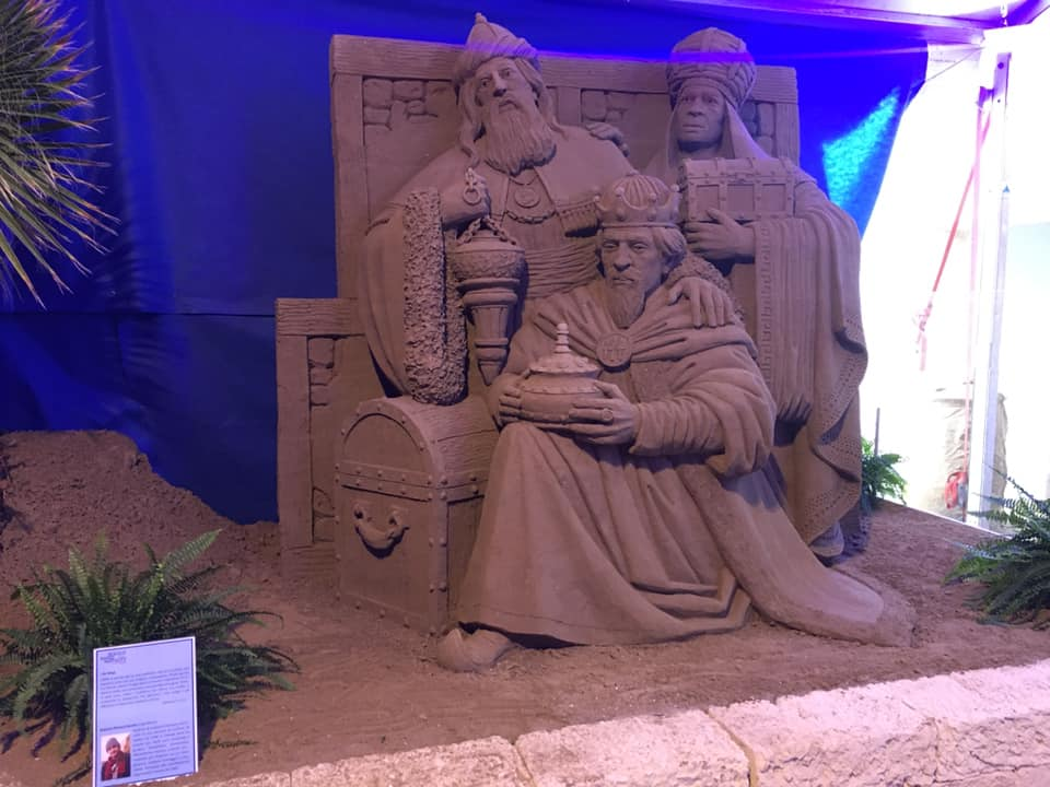 Jesolo Sand Nativity con le figure dei Re Magi