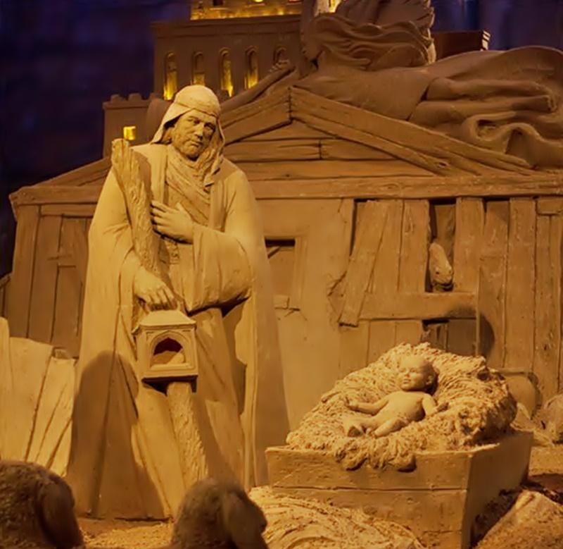 Jesolo Sand Nativity - Presepe con bambinello in sabbia