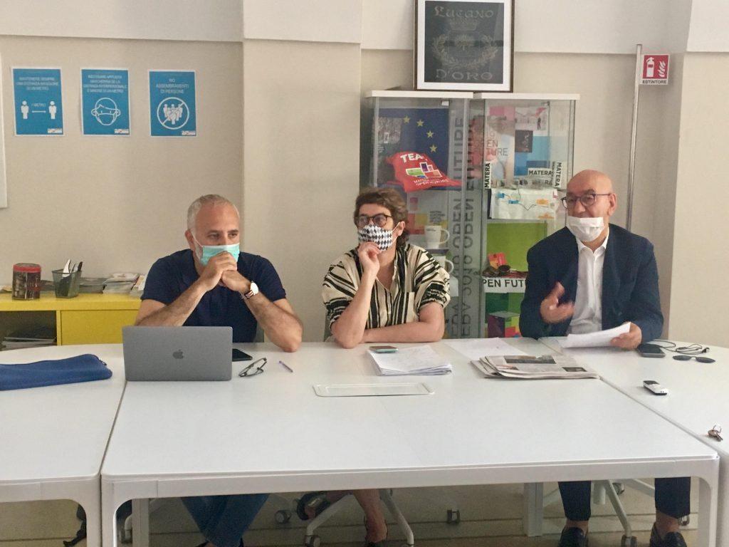 La Conferenza Stampa Della Fondazione Matera 2019 Con Oliva Adduce E Tarantino 1