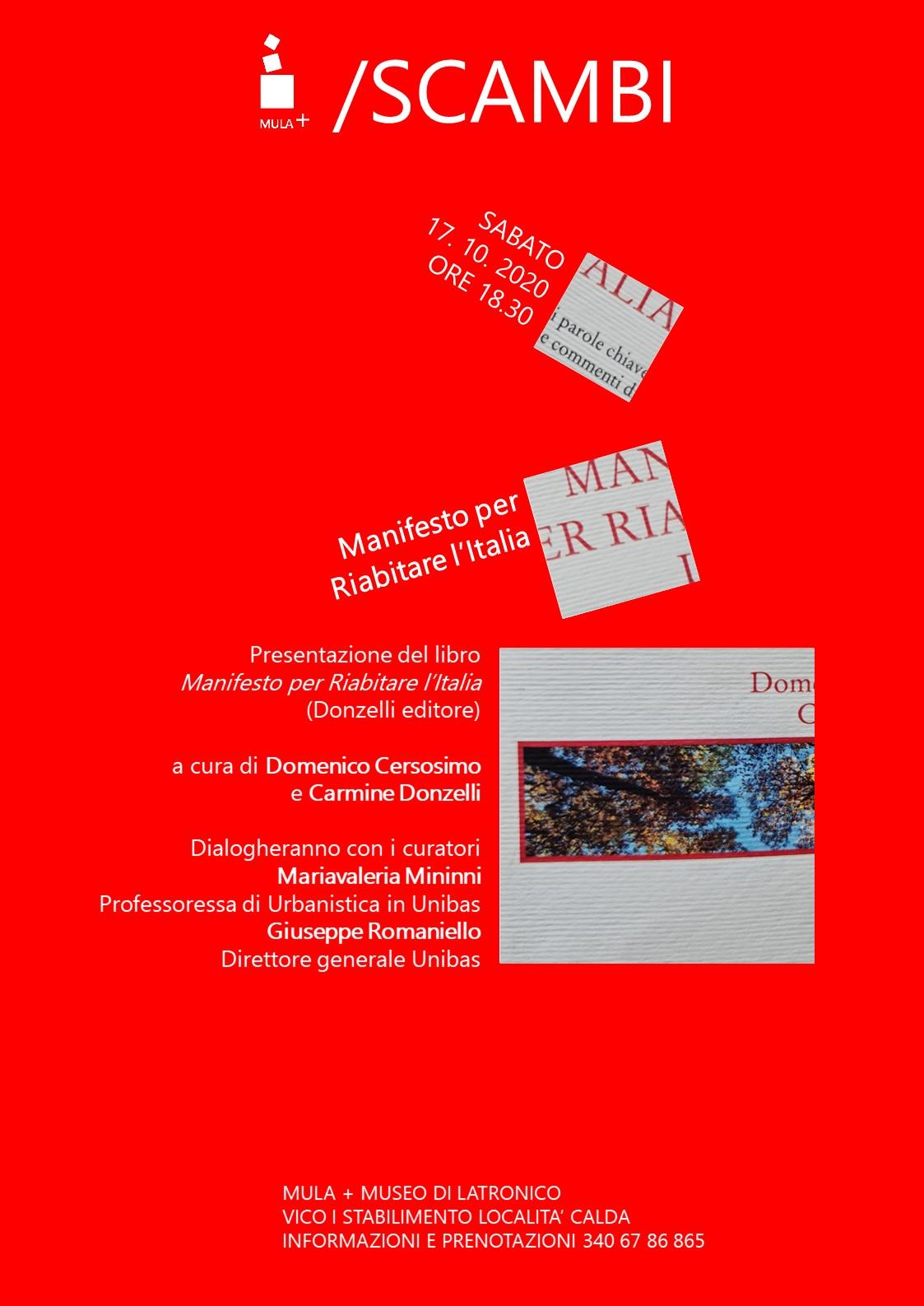 Mariavaleria Minnini - Locandina Manifesto Per Riabitare L'italia Ottobre 2020