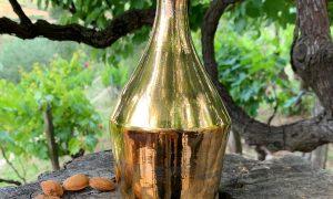 Olio lucano - Bottiglia Dorata in ceramica per olio