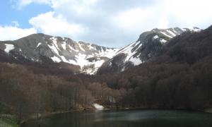 Il lago Laudemio - Il Lago con i faggi