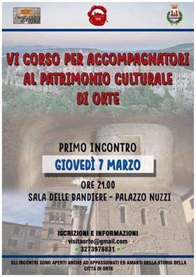 Patrimonio Culturale - locandina che invita al Corso Per Accompagnatori