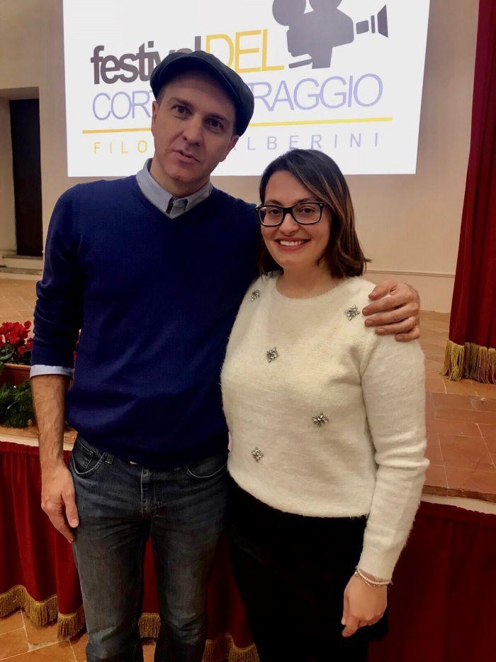 Il regista Stefano Anselmi Con L'autrice di itOrte Veronica Carullo