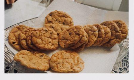 I biscotti con gocce di cioccolato