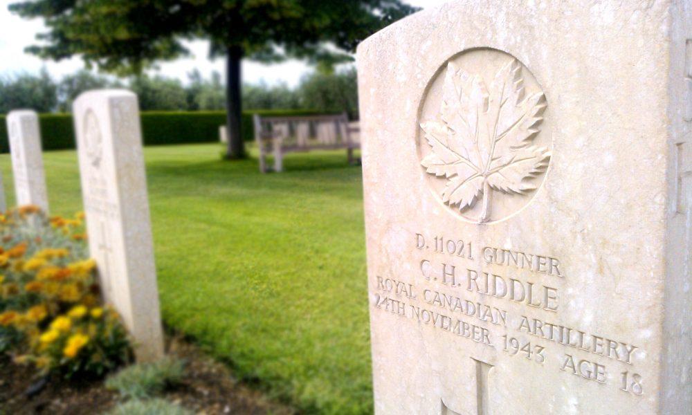 Battaglia di Ortona: il cimitero canadese