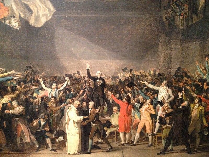 Abolizione della monarchia in un dipinto di David