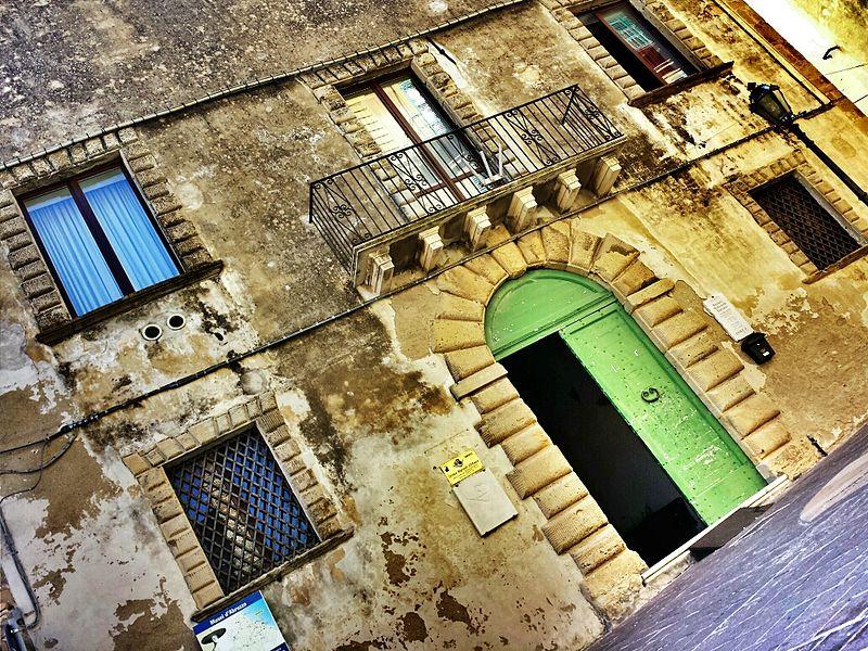Palazzo Corvo, luogo della mostra degli strumenti musicali