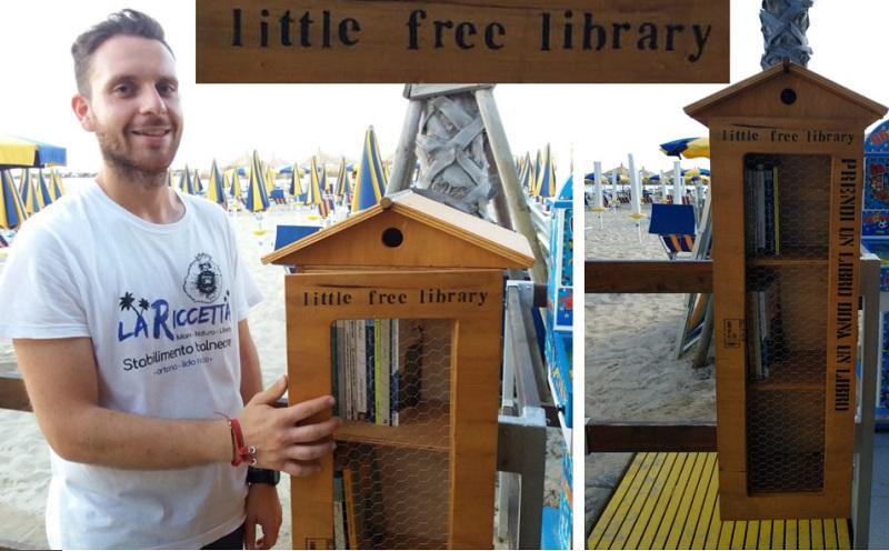 Attilio Alessandro Ortolano e la Little Free Library di Ortona