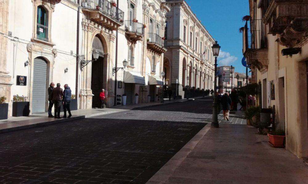 Corso Vittorio Emanuele a Palazzolo Acreide