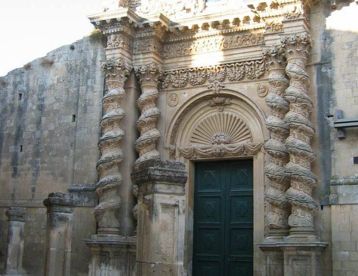 La famosa chiesa dell'Annunziata di Palazzolo Acreide nel quartiere San Paolo