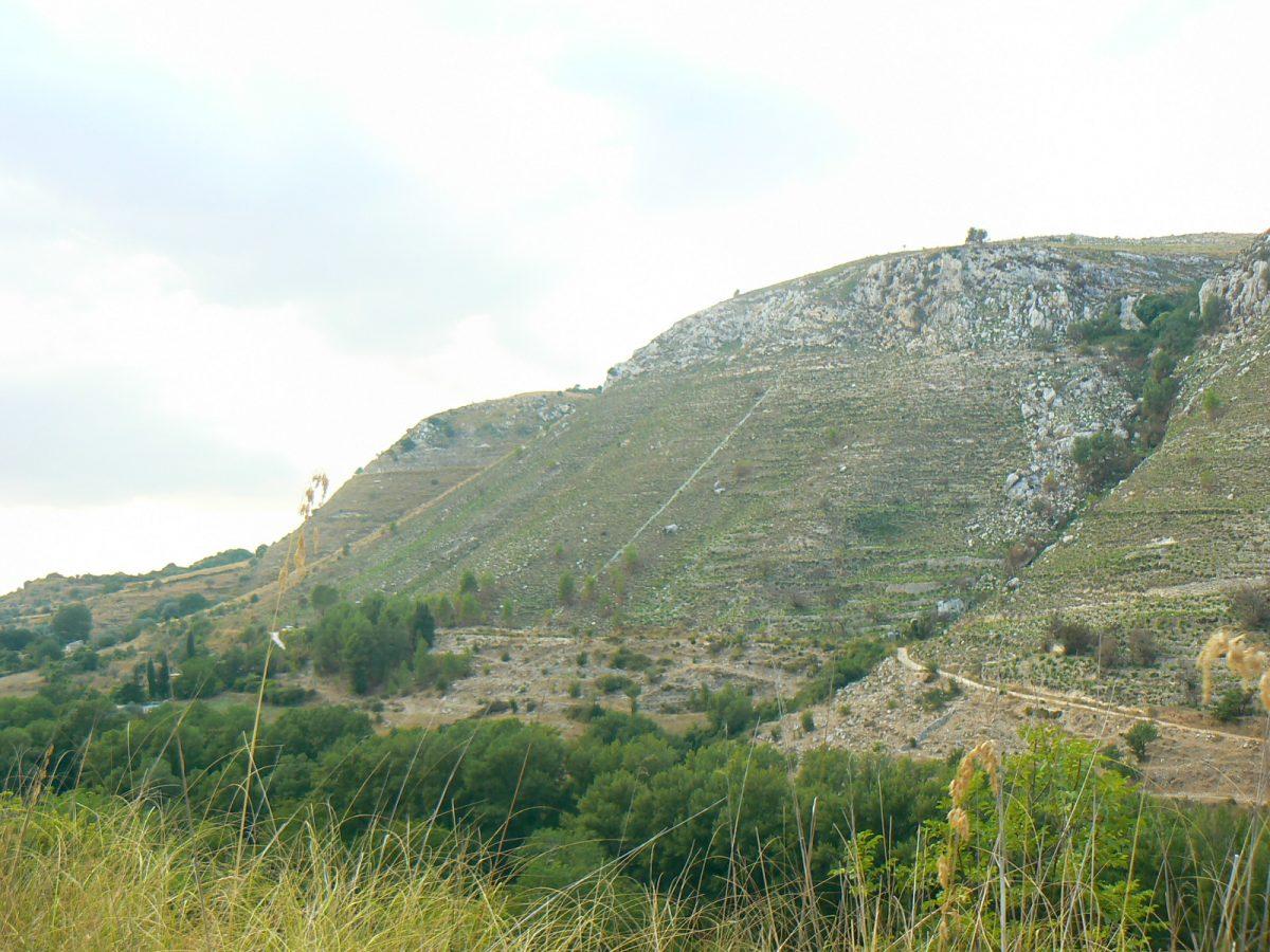 Il paesaggio della Valle dell'Anapo