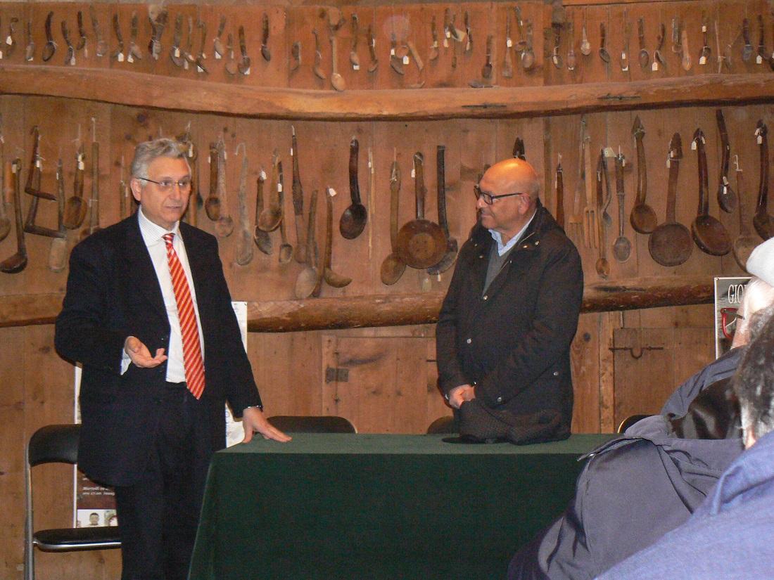 Gaetano Pennino e Lorenzo Guzzardi alla Casa museo di Palazzolo