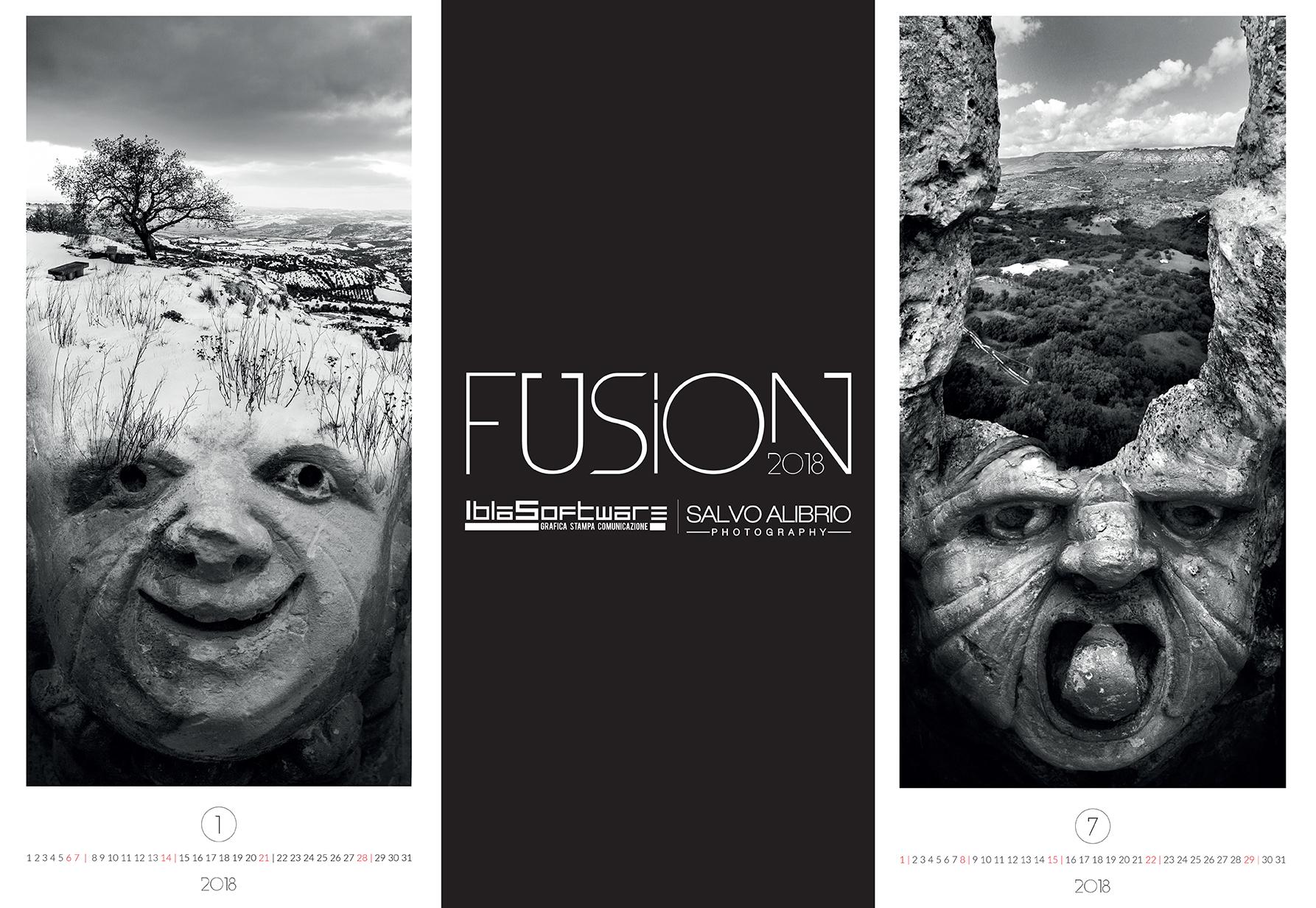 Alcuni particolari del calendario Fusion su Palazzolo