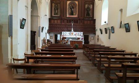 L'interno della chiesa di San Francesco dove c'era il cinema