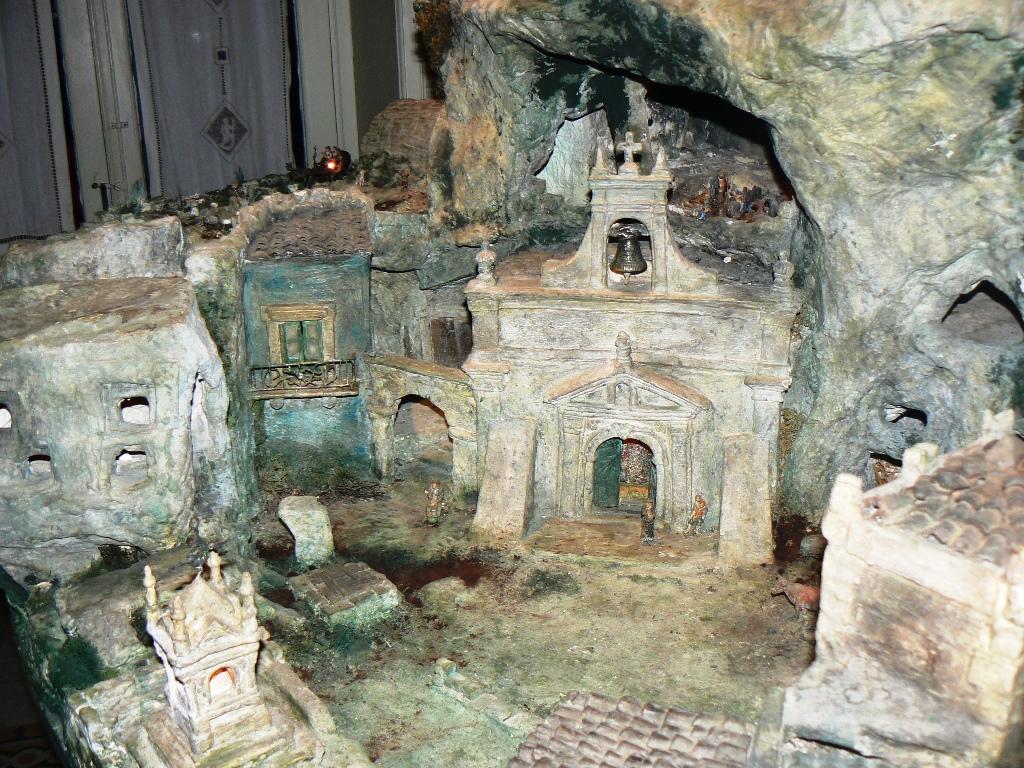 Dettagli di un presepe di Leone alla casa museo di Palazzolo