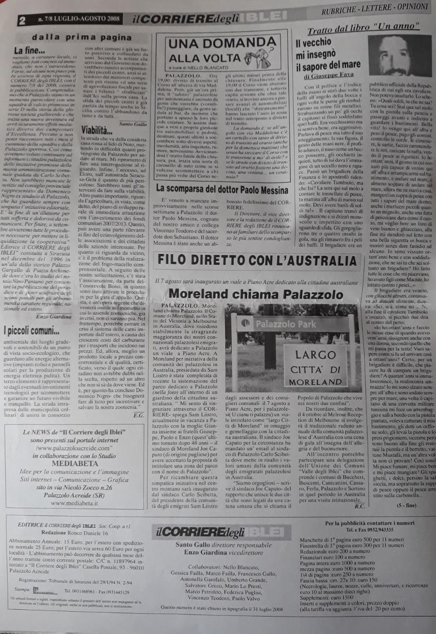 Altra pagina del Corriere degli Iblei