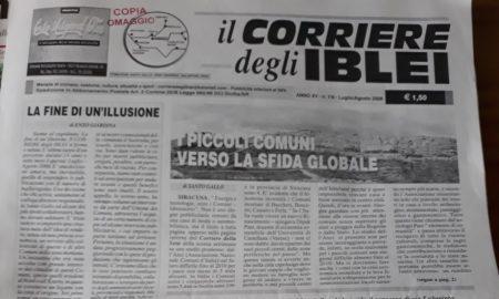 La prima pagina del Corriere degli Iblei