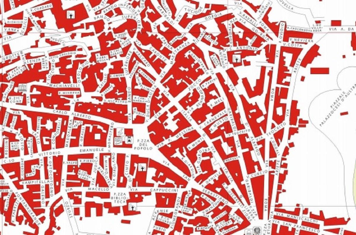 Mappa del centro storico di Palazzolo